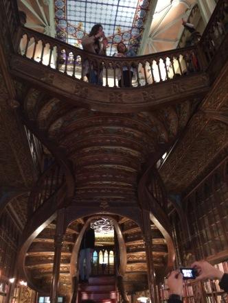 Livraria Lello's famous staircase