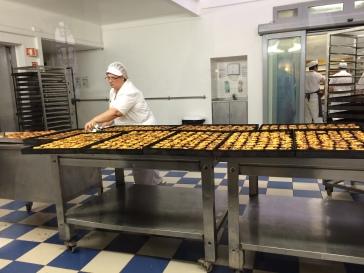 Pastel de nata in the Pasteis de Belém bakery