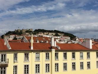 View of Castelo São Jorge from hostel window